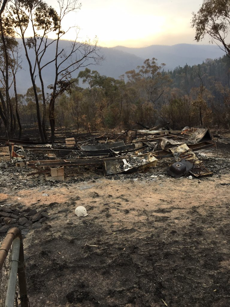 Clear Range Fire, remains of two caravans